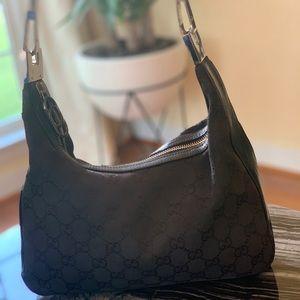 Vintage Gucci black shoulder bag